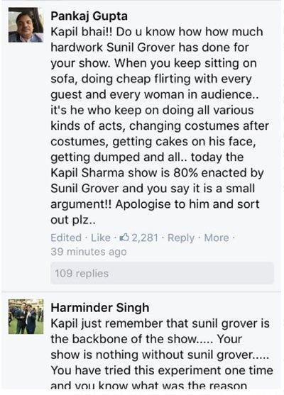 fans tweet to kapil kapil sharma sunil grover controversy tkss