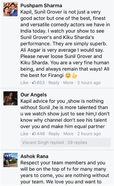 fans tweet to kapil regarding the kapil sharma sunil grover controversy