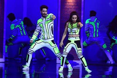 Sanam Johar and Abigail Pandey who performed to The Humma Humma