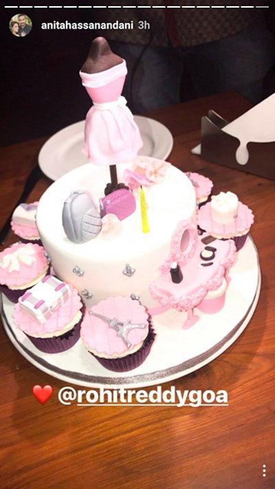anita hassanandanis birthday cake