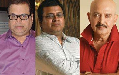 Producers Ramesh Taurani and Tanuj Garg  along with Rakesh Roshan.jpg
