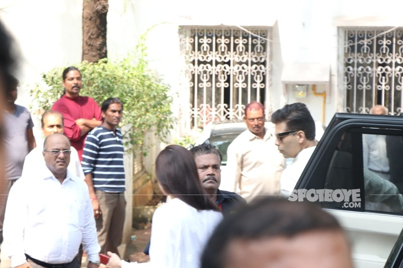 Karan Johar At Krishna Raj Kapoor Residence
