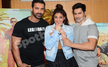 Varun talks about kissing Parineeti & Jacqueline, John talks cigarettes, Jacqueline joins in