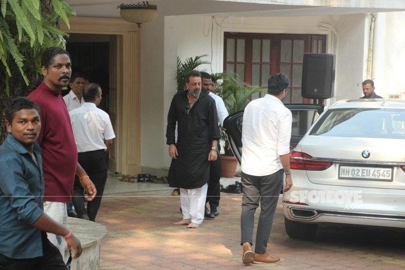 Sanjau Dutt Arrive At Her Residence