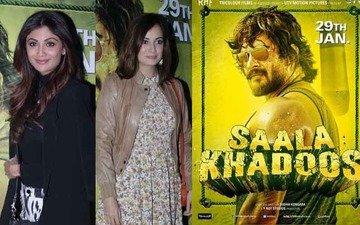 Shilpa, Dia get emotional at Saala Khadoos special screening