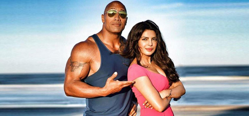 priyanka chopra with dwayne johson