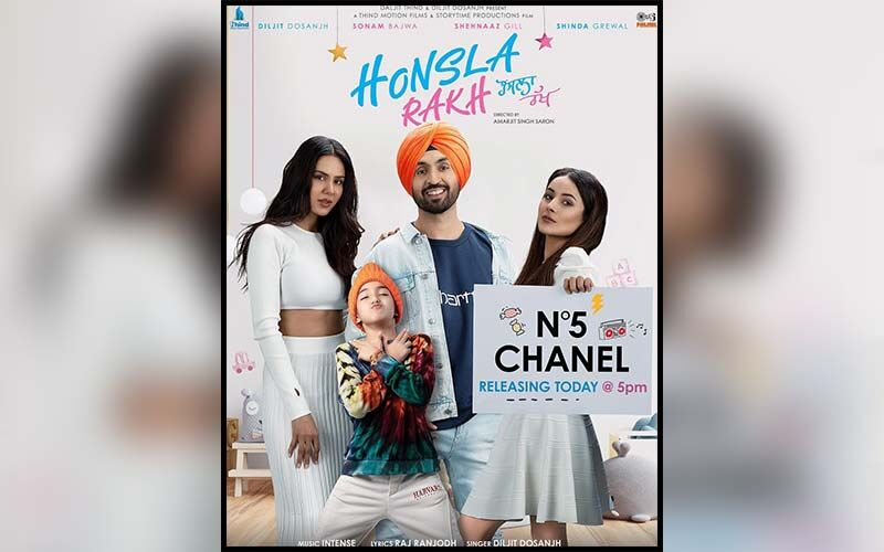 Chanel No 5: The First Song From Diljit Dosanjh, Sonam Bajwa And Shehnaaz Gill Starrer 'Honsla Rakh' Is Out; Get Your Bhangra Grooves On