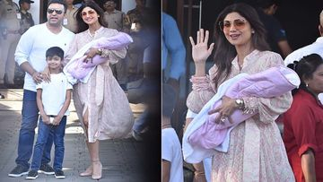Shilpa Shetty And Raj Kundra Make Their First Public Appearance With Daughter Samisha