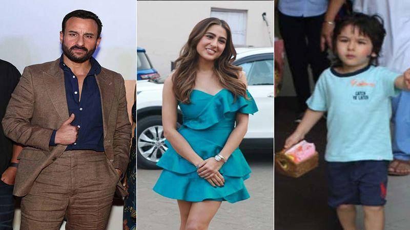 Saif Ali Khan Gets Clicked With Sara Ali Khan And Taimur Ali Khan; Tim Tim Looks Uber Cool In His Cowboy Avatar-Deets INSIDE