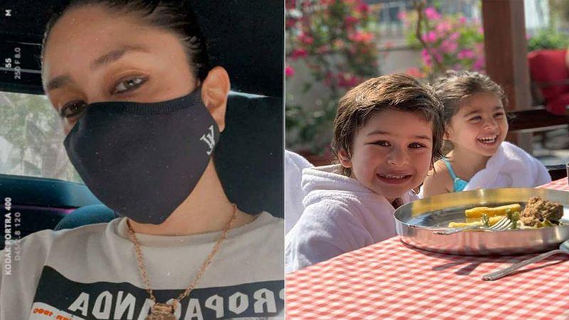 Kareena Kapoor Khan Waves At The Paps; Taimur Ali Khan And Inaaya Naumi Kemmu Enjoy Their Day Out