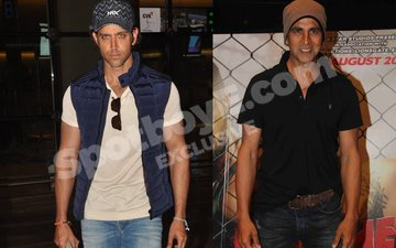 Hrithik missing from Akshay's party. Was he invited?