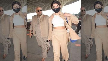Boney Kapoor Jets Off To Delhi Along With Khushi Kapoor; Boney To Play Ranbir Kapoor's Father In Luv Ranjan's Next