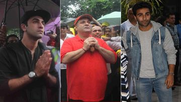Rajiv Kapoor Last Rites: Randhir Kapoor Leads The Rites, Ranbir Kapoor And Armaan Jain Lend Their Shoulder To Carry The Mortal Remains
