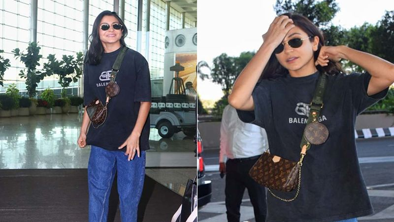 Anushka Sharma Is A Heavy Spender On Bags; Carries A Tiny Cross Body Bag Worth 18K