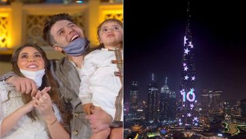 UAE Based Syrian Influencers Anas And Asala Marwah Hosted A USD 100K Gender Reveal Party At Burj Khalifa In Dubai-VIDEO