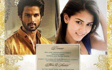 Take A Look At Shahid-mira's Wedding Card