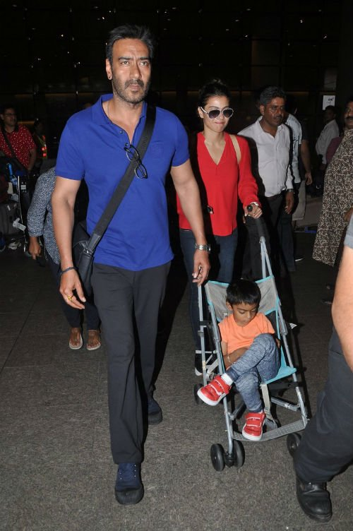 Ajay-Kajol return from their London holiday