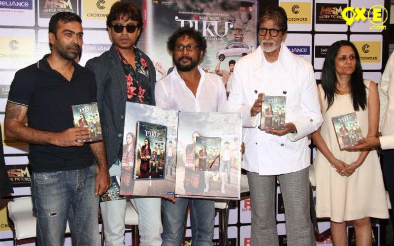 Big B and Irrfan launch Piku DVD