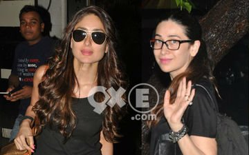 Caught!  Kareena And Karisma After A Beauty Session At A Parlour!!