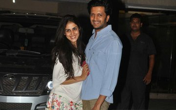 Genelia D'souza Rushes Into Her Husband's Arms
