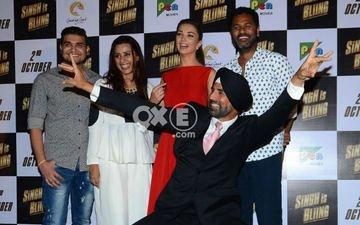 Akshay Kumar Displays 'Singh-Giri' At Singh Is Bliing Trailer Launch