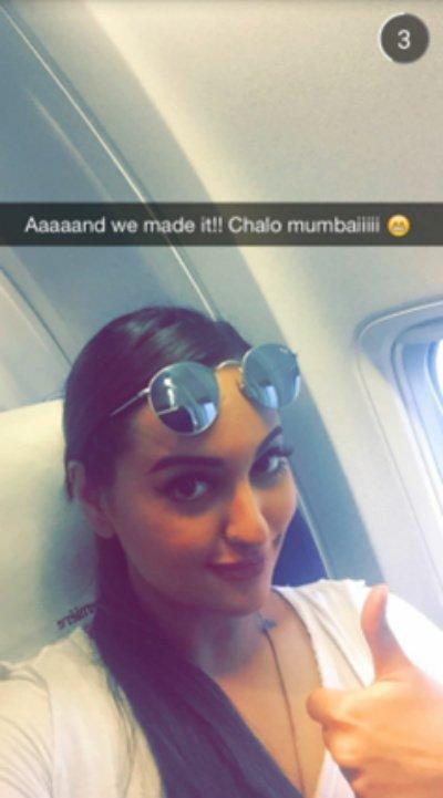 Sonakshi Sinha's World Through Snapchat!