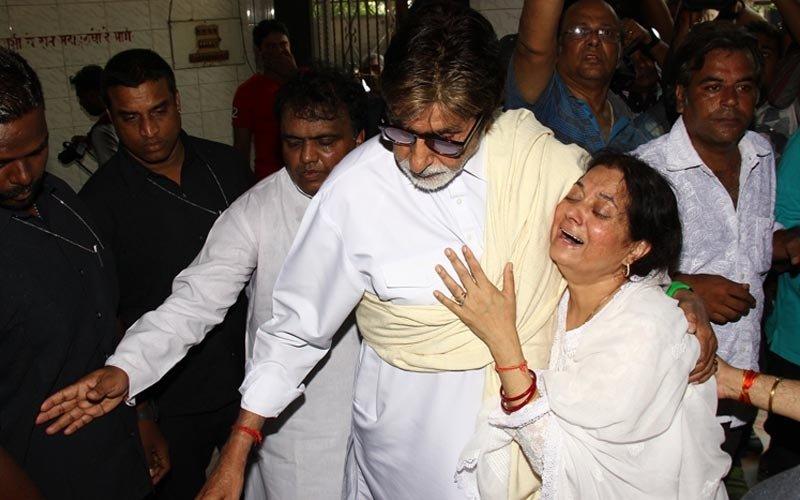 Bachchan Consoles Vijeta At Aadesh's Funeral