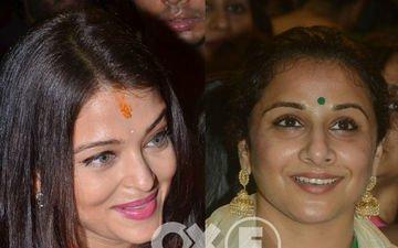Aishwarya Rai Bachchan & Vidya Balan Visit GSB Ganpati