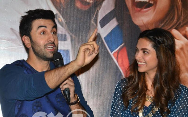 Ranbir Kapoor-Deepika Padukone At Tamasha Trailer Launch