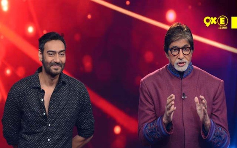 Ajay, Huma Share The Stage With Big B On His Show