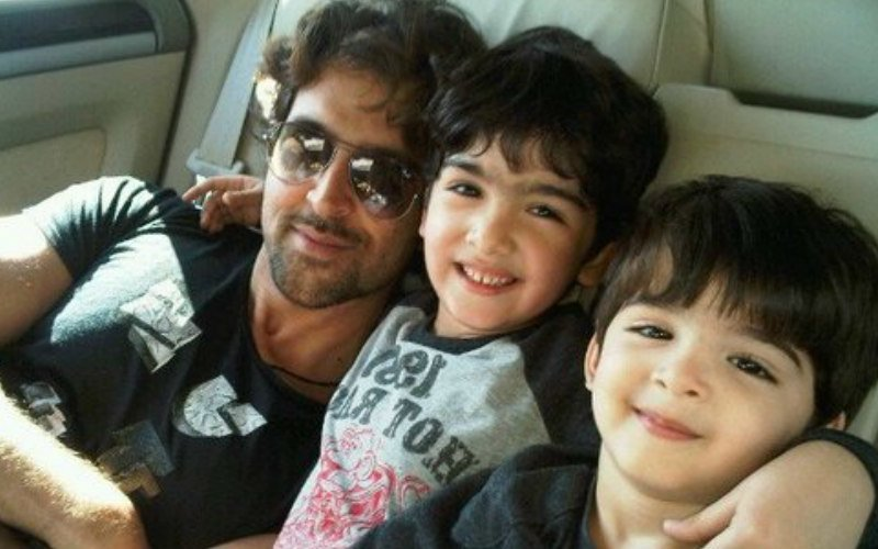Hrithik Enjoys Movie Date With Sons