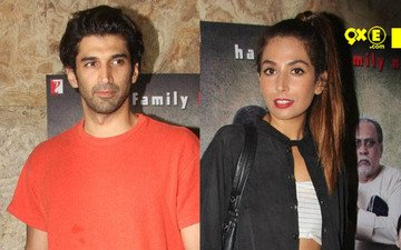 Aditya Roy Kapoor And Monica Dogra Snapped At 'Titli' Screening