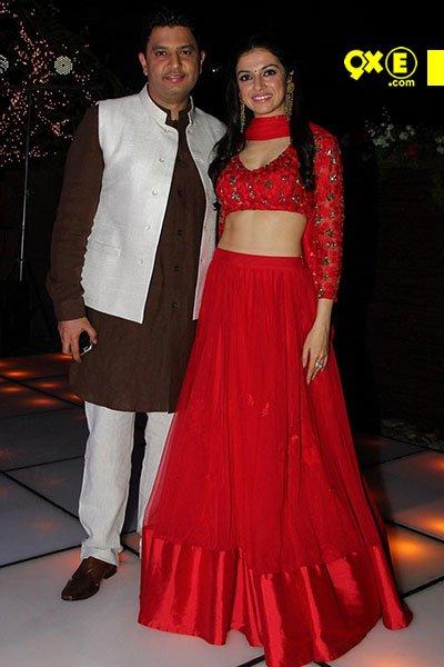 Bhushan Kumar and wife