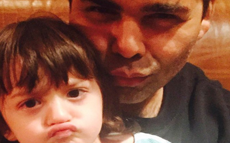 AbRam Goes Pout-Happy With Karan Johar