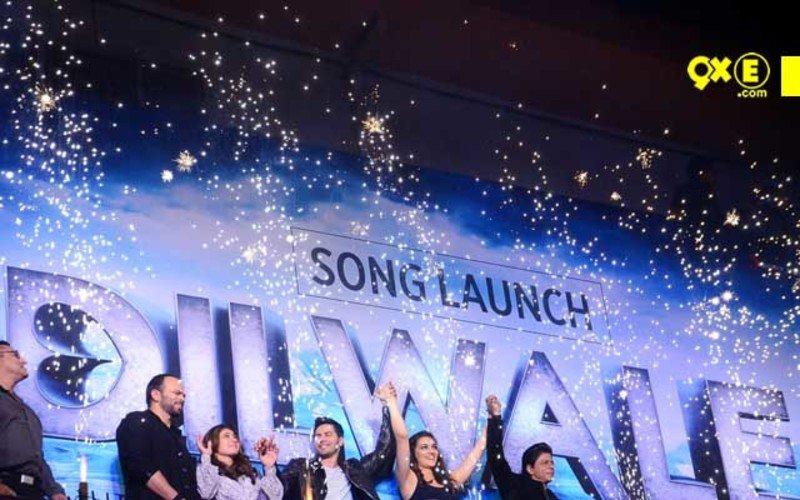 SRK-Kajol, Varun-Kriti Launch Dilwale Song Gerua