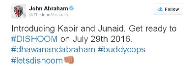 John Abraham, Varun Dhawan in Dishoom