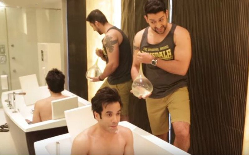 Tusshar And Aftab Bring Condom Challenge To India