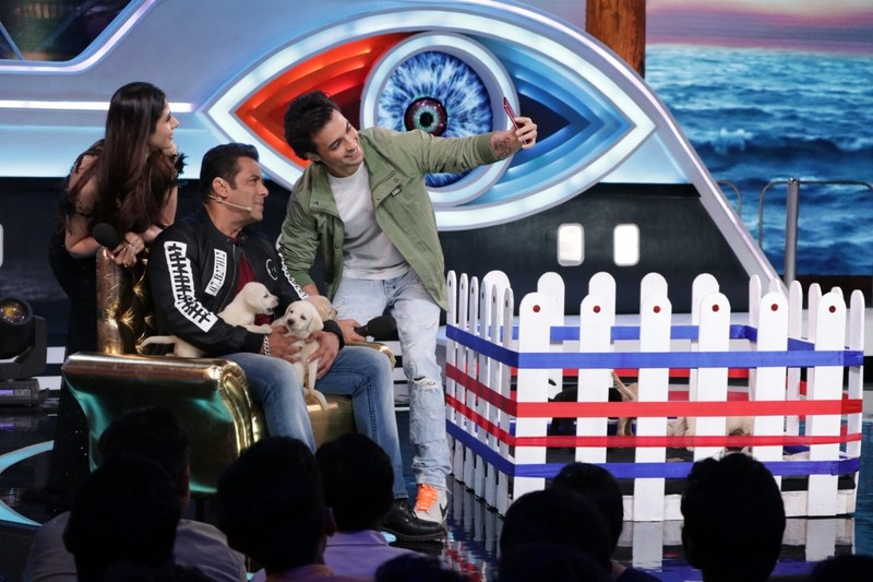 A Still Of Salman Khan From Bigboss 12