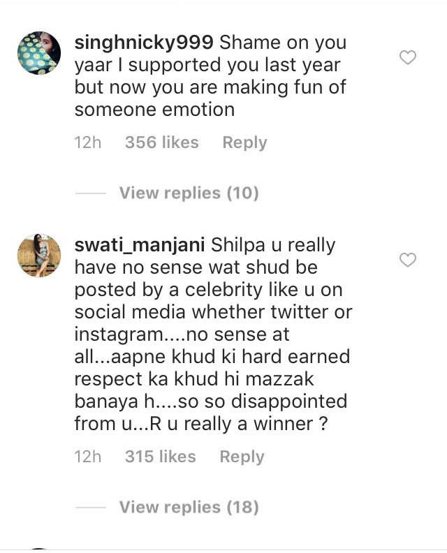 shilpa shinde fans troll comments