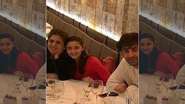 Neetu Kapoor Joins Alia Bhatt And Ranbir Kapoor On Date Night; Don't Miss Alia's Lovers Gaze