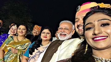 PM Narendra Modi Graces Mohena Kumari's Wedding Reception, Actress Thanks Him, Says 'Koti Koti Pranaam'