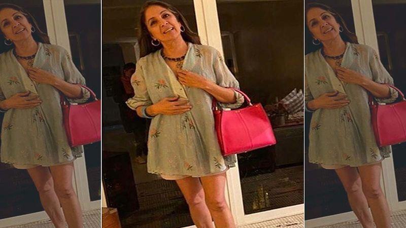 Neena Gupta Gives 'Frock Ka Shock' Again; Teams Short Co-ords With Borrowed Shoes