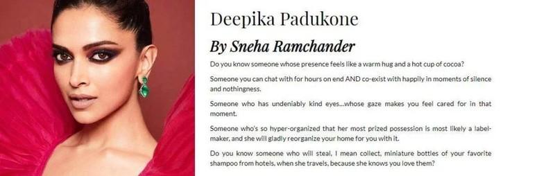 Deepika Padukones Message