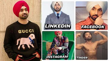 Diljit Dosanjh Shares DP Pictures For His Tinder, LinkedIn, FB And Instagram Profiles; Says His 'Husn' Has 'Laakhon Rang'