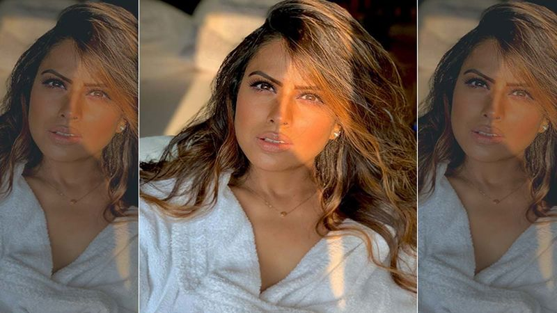 Nia Sharma Wraps Herself In A Bathrobe Looking Drop Dead Sexy; Says It's A 'Whole Level Of Good Mood'
