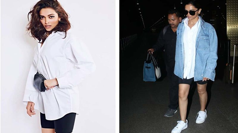Deepika Padukone Recycles Her Old Look To The Airport, Adds A Denim Touch To It