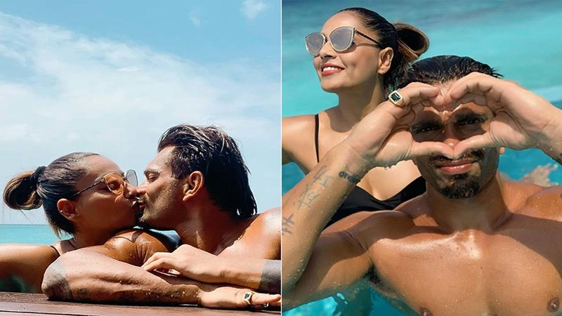 Bipasha Basu Celebrates Mr Bajaj AKA Karan Singh Grover's Birthday In Maldives; Slathers Hubby With Sloppy Kisses