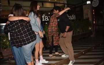 Farhan Akhtar Takes Sisters Shibani Dandekar And Anusha Dandekar On A Dinner Date