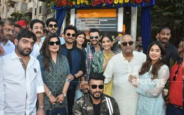 Sonam Kapoor, Janhvi Kapoor, Arjun Kapoor And Fam Inaugurate Chowk Named In Memory Of Grandfather-Producer Surinder Kapoor