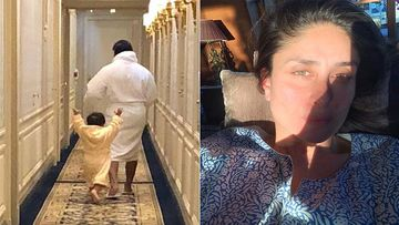 Kareena Kapoor Urges All To Honour Lockdown With A Pic Of Saif And Taimur In Bathrobes; Curious Fans Ask, 'Is That Your House?'